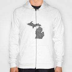 Typographic Michigan Hoody