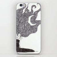 Moon Hair iPhone & iPod Skin