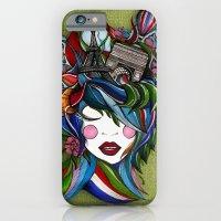 iPhone & iPod Case featuring Paris girl in green by Lera Razvodova