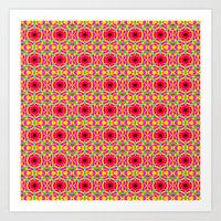 Jelly Arcade Pattern Art Print