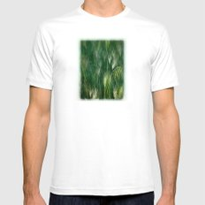 Meadow Reverie White Mens Fitted Tee SMALL