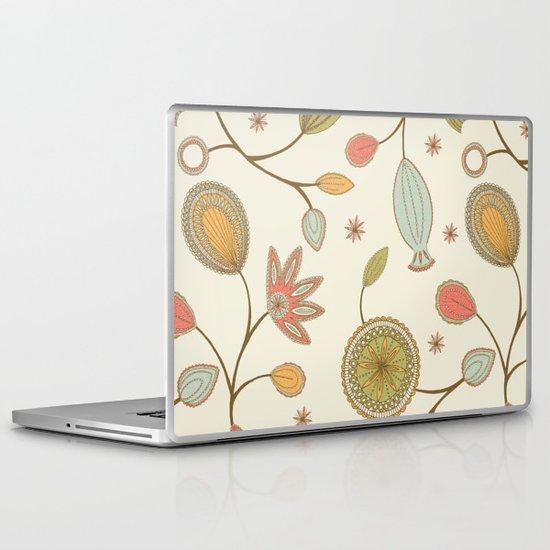 Mehndi Flower Laptop & iPad Skin