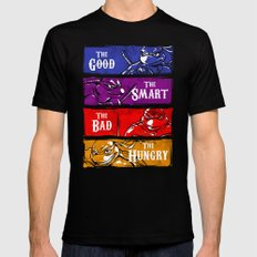 The Good, The Smart, The Bad and The Hungry Mens Fitted Tee Black SMALL