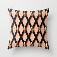 Pink Net Throw Pillow