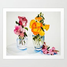 Tiny Vases Art Print