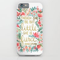 floral iPhone & iPod Cases featuring Little & Fierce by Cat Coquillette