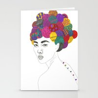 Fashion Illustration 3  Stationery Cards