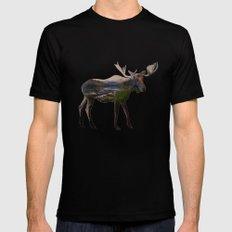 The Alaskan Bull Moose Black Mens Fitted Tee SMALL