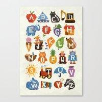 Alphabet Canvas Print