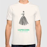 Capricorn Mens Fitted Tee Natural SMALL