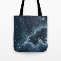 Grey Rift Galaxy (8bit) Tote Bag