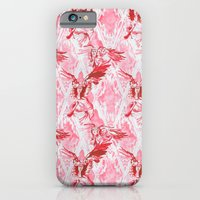 iPhone & iPod Case featuring Guardian Angel (Red) by Armani jane