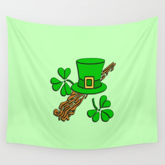 Irish Hat Design  Wall Tapestry