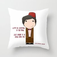 We're All Stories In The… Throw Pillow