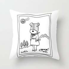 Lolo in Seattle(in her dream) Lolo the dog Throw Pillow
