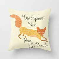 Catch For Us The Foxes Throw Pillow