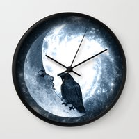 The Crow And Its Moon. (… Wall Clock