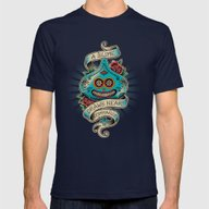 Slime De Los Muertos Mens Fitted Tee Navy SMALL