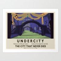 Undercity Classic Rail Poster Art Print