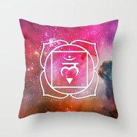 Muladhara Chakra Throw Pillow