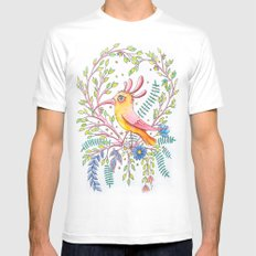 serious bird Mens Fitted Tee SMALL White