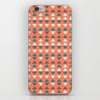 Triangles + Dots iPhone & iPod Skin