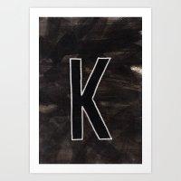 - K - Art Print