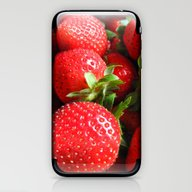 Abstract Strawberry Art iPhone & iPod Skin