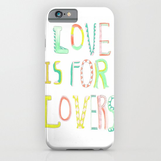 LOVE IS FOR LOVERS 2 iPhone & iPod Case