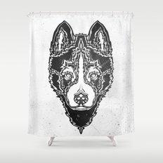 Dog black  Shower Curtain