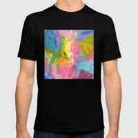 Happy Bright No. 2 Mens Fitted Tee Black SMALL
