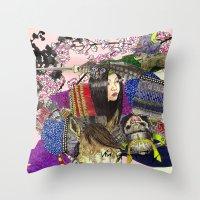 Tomoe Gozen Throw Pillow