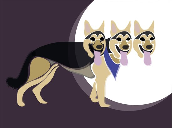 That three headed dog Art Print