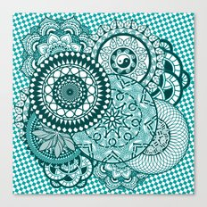 Turquoise Mandala Party Canvas Print