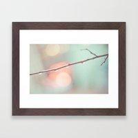 Pastel Rain Framed Art Print