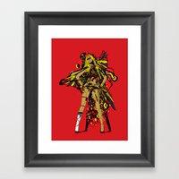 HATHOR ~ RED Framed Art Print