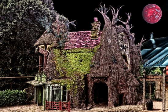 Haunted Tree House Art Print