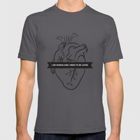 I Am Human & I Need To B… Mens Fitted Tee Asphalt SMALL