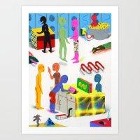 Leisure Activities Of Th… Art Print