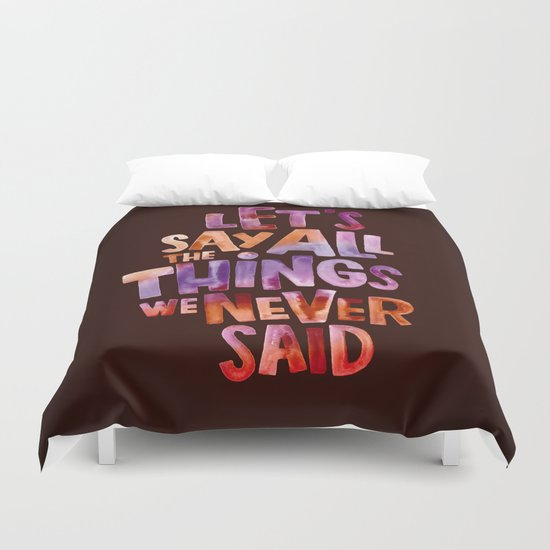 All The Things Duvet Cover