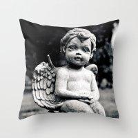 Forgotten angel Throw Pillow