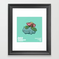 003 Venusaur Framed Art Print