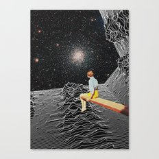 unknown pleasures to Infinity Canvas Print