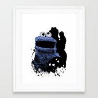 Monster Madness: Cookie … Framed Art Print