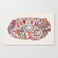 ethnic print with fish Canvas Print