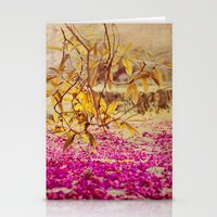 autumn pink Stationery Cards