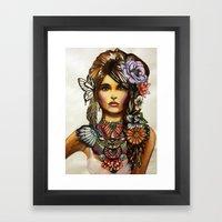 Owl Necklace Framed Art Print
