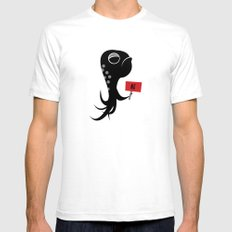 Squid of No SMALL Mens Fitted Tee White