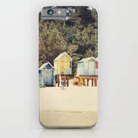 iPhone & iPod Case featuring Beach Huts by LauraWilliams95