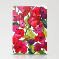 Scarlet Tulips Stationery Cards